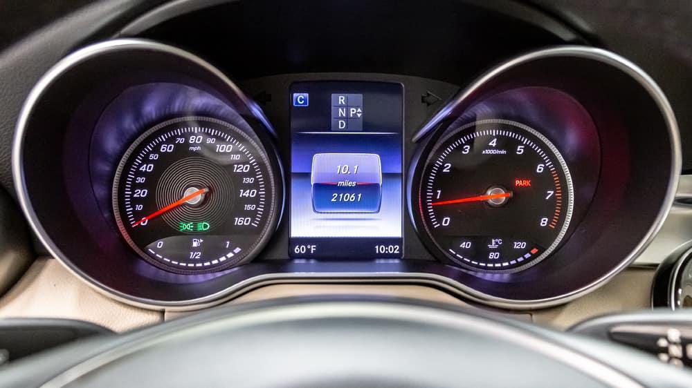 Mercedes-Benz Mileage Display