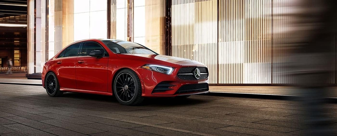 2020 Mercedes-Benz A-Class Sedan in red exterior