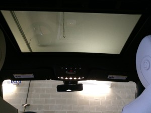 White E300 Interior Roof