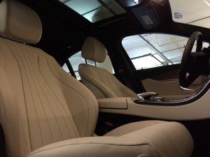 White E300 Interior Seats