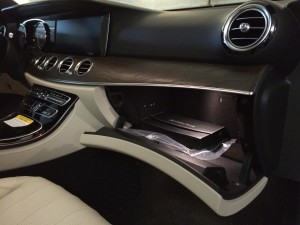 White E300 Glove Box