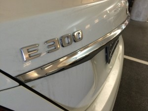 White E300 Badge Detail