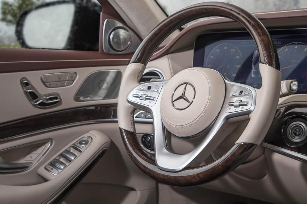 2018 Mercedes-Benz S 450 in with Burl Walnut Wood Light