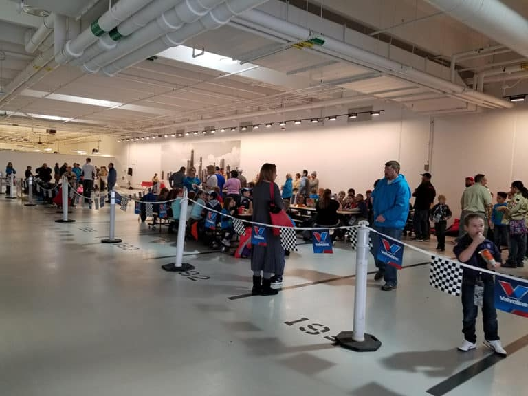 Pinewood Derby Crowd at Fletcher Jones