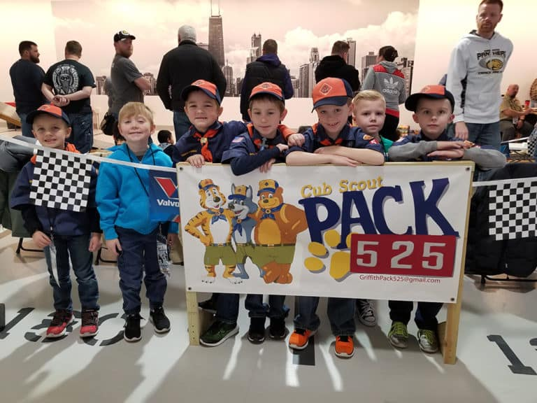 Pinewood derby cub scouts pack 525