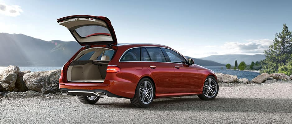 E-Class Wagon with Trunk Open