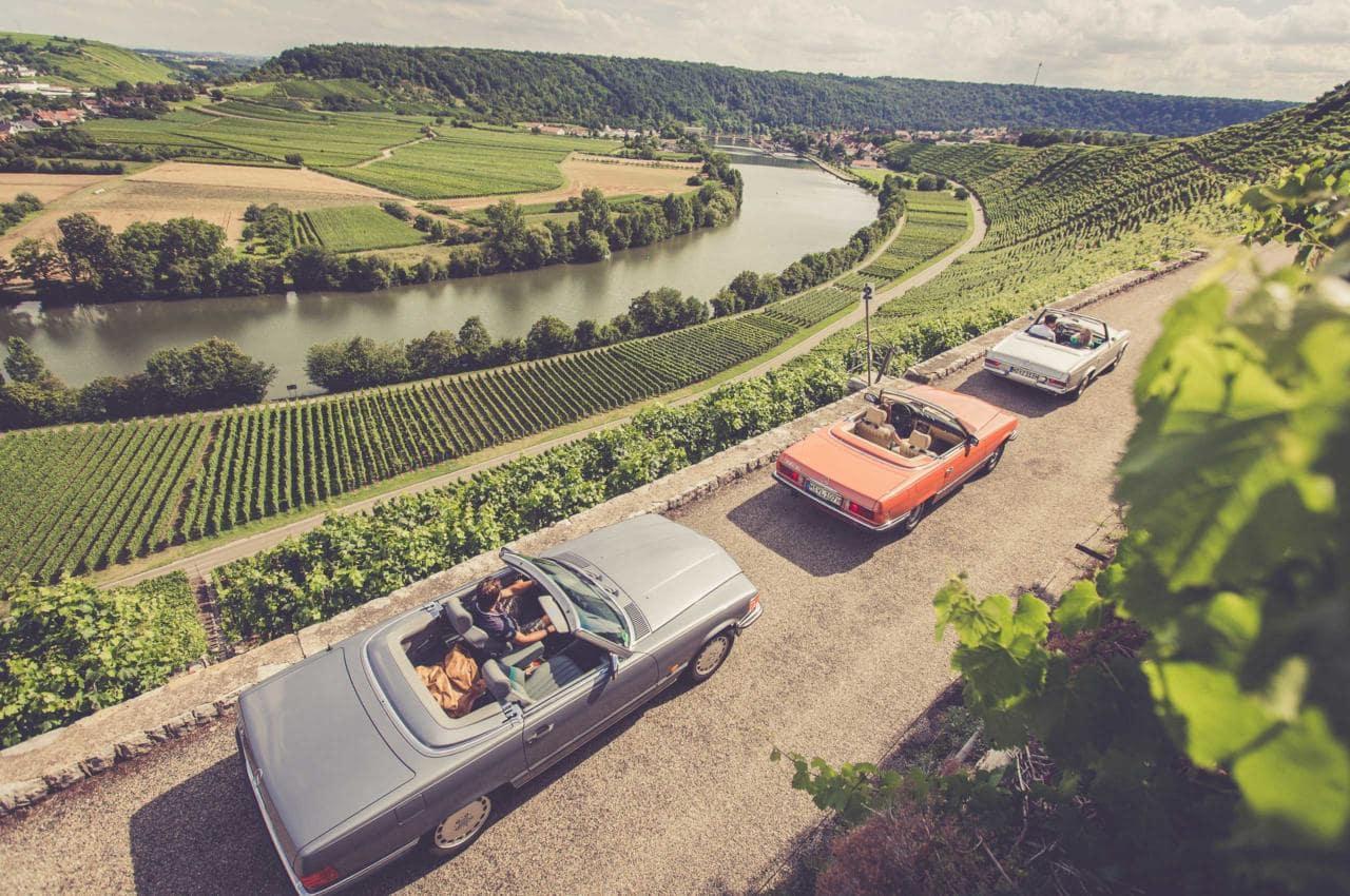multiple Vintage Mercedes-Benz