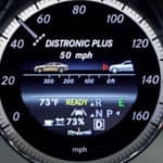 Mercedes-Benz DISTRONIC PLUS in gauge cluster