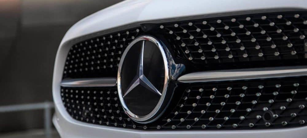 Close up of the A Sedan's star-stamped front grille