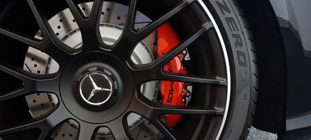 Close up of a Mercedes-Benz tire