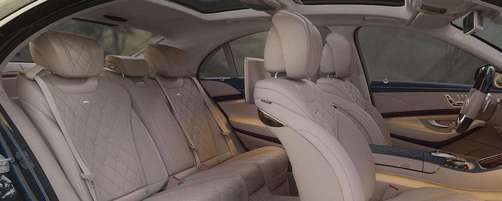 Leather seats inside 2019 Mercedes-Benz S-Class Sedan