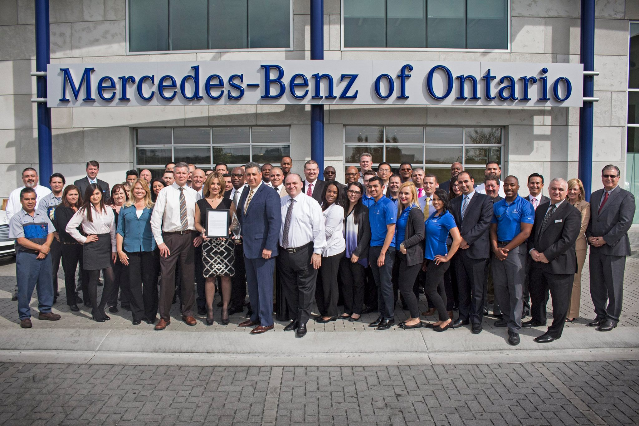 Employee appreciation mercedes benz of ontario for Mercedes benz ontario dealers