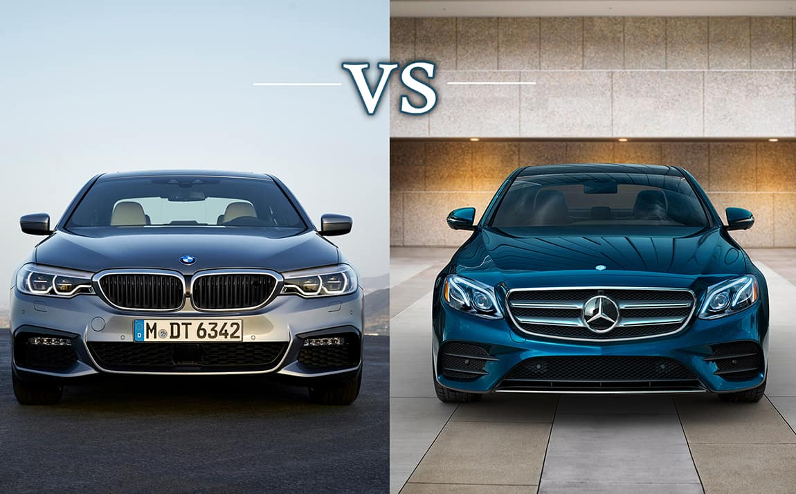 2017 mercedes benz e class vs bmw 5 series for Mercedes benz ontario dealers