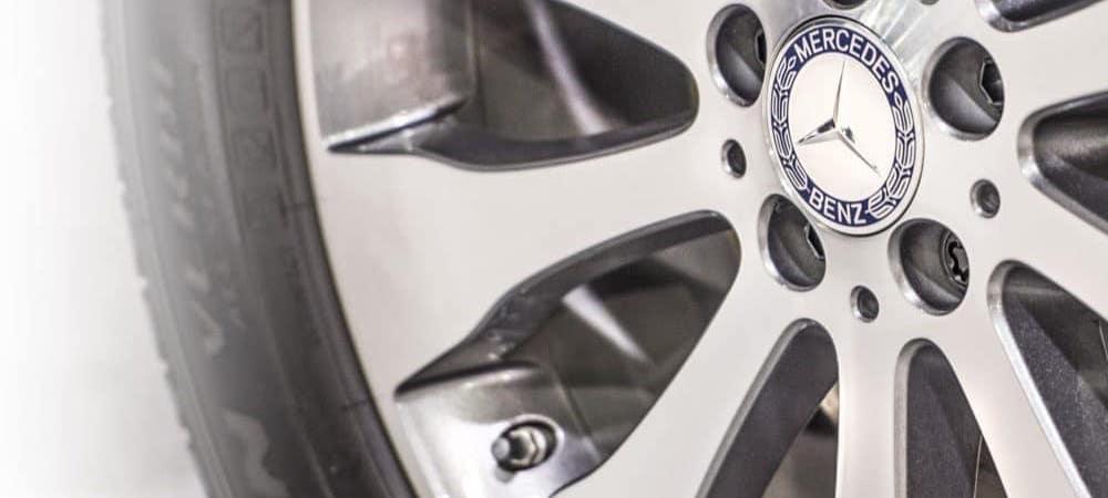 Closeup on Mercedes-Benz wheel