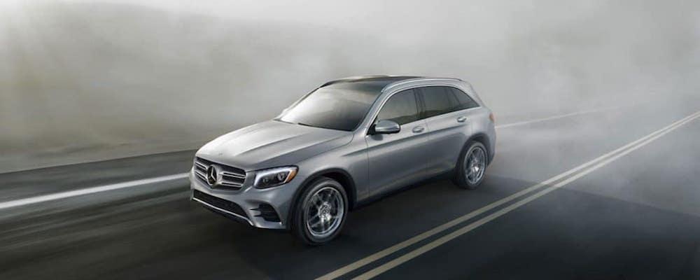 2019 Mercedes-Benz GLC driving through fog