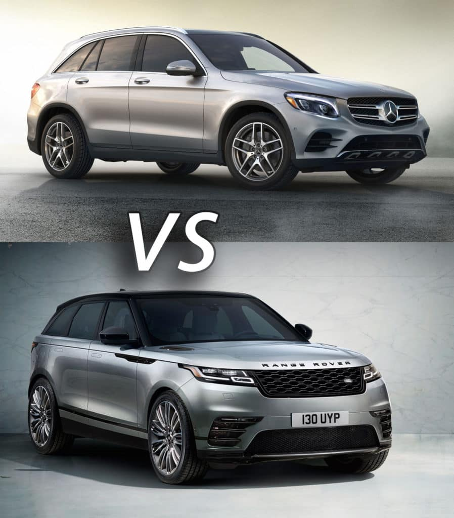 2018 mercedes benz glc vs 2018 range rover velar. Black Bedroom Furniture Sets. Home Design Ideas