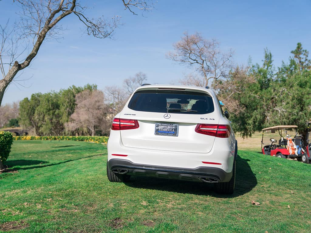 White Mercedes-AMG GLC 43 at Redhawk Golf Club_Mercedes-Benz of Temecula