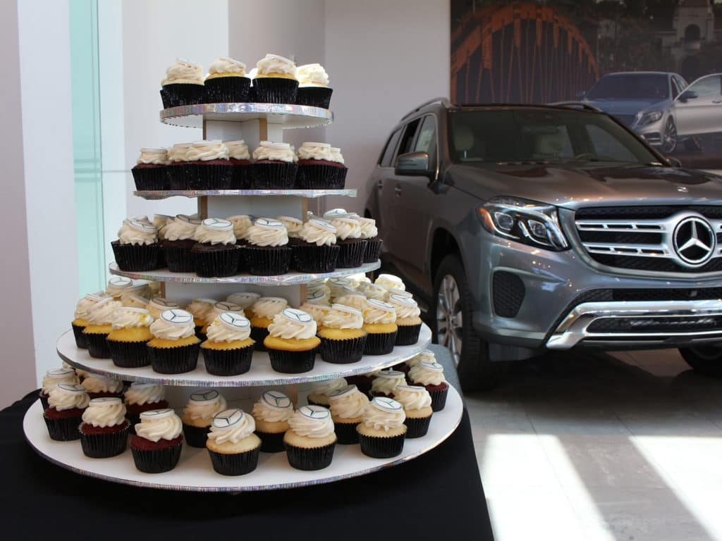 4th anniversary Mercedes-benz of temecula cupcakes