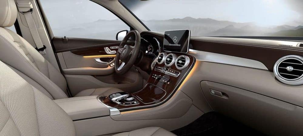 Front seat view of 2019 GLC cabin
