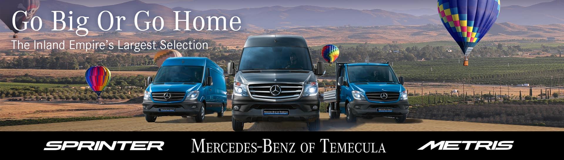 Mercedes-Benz Sprinter and Metris | Mercedes-Benz of Temecula