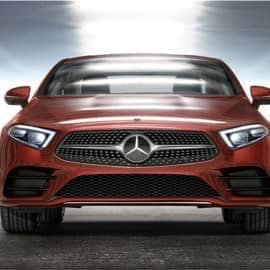 Red Mercedes Benz Font View