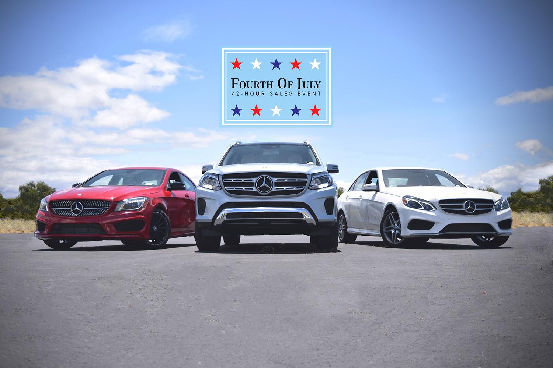 4th of july 72 hour sales event fletcher jones motorcars for Fletcher jones mercedes benz fremont ca
