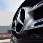 Mercedes Badge Close up