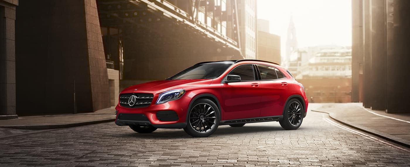 2020 Mercedes-Benz GLA SUV in red exterior