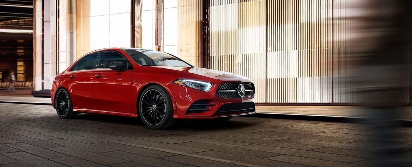 2020 Mercedes-Benz A-Class Sedan in red exterior