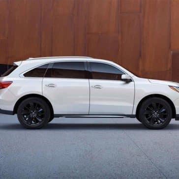 2018 Acura MDX Advance Pkg White Diamond Pearl Berlina Black Alloy Wheels