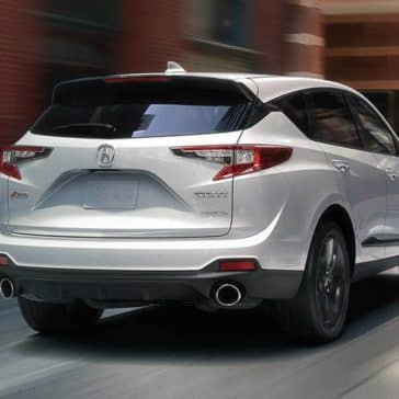 2019 Acura RDX rear view in white