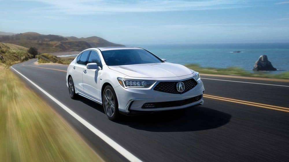2018 Acura RLX on the highway