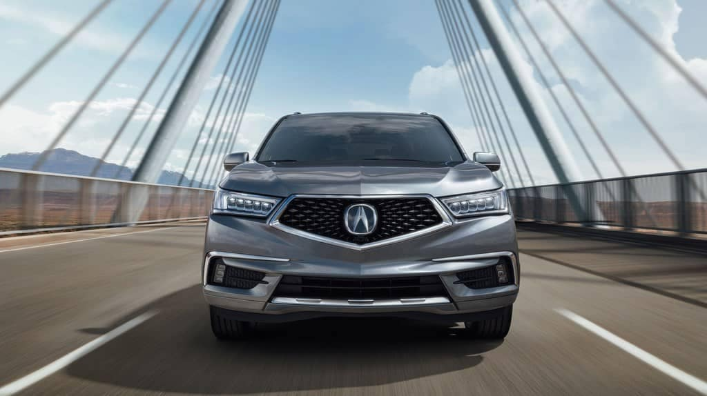 2019 Acura MDX on a bridge