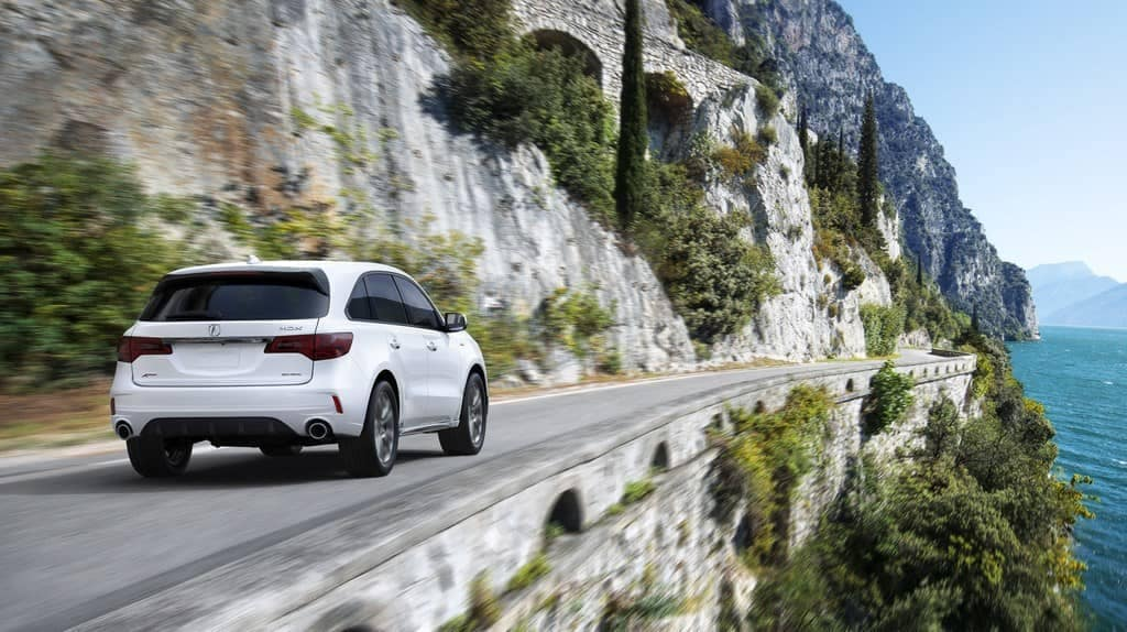2019 Acura MDX on a country road