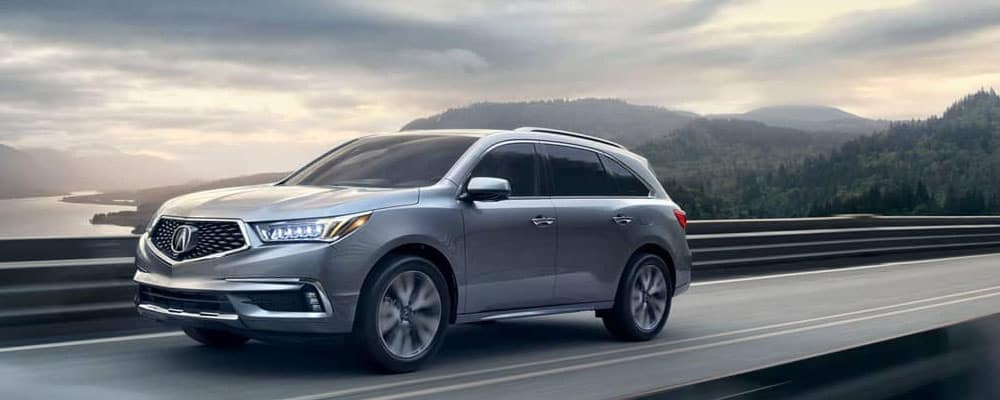 2019 Acura MDX on the highway