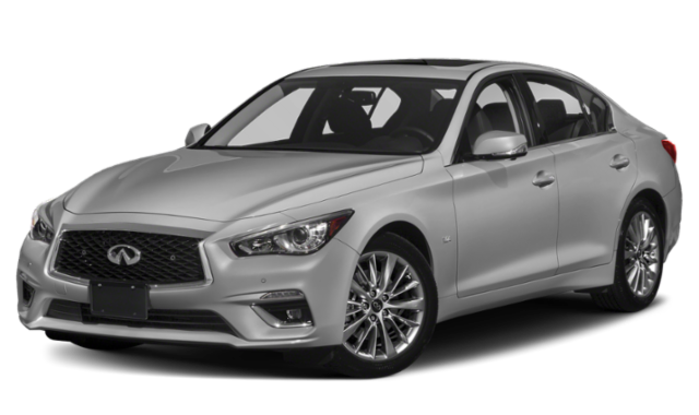 Gray 2019 INFINITI Q50 on Transparent Background