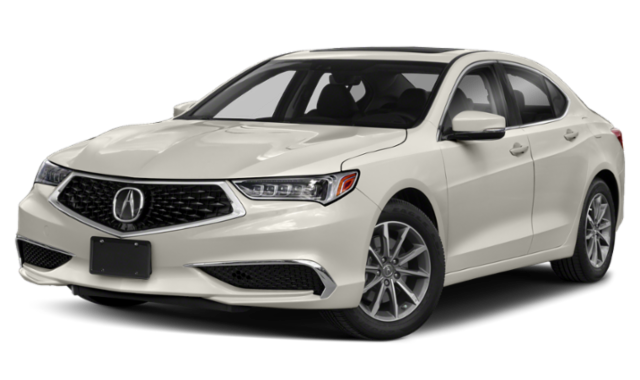 White 2019 Acura TLX with Technology Package on Transparent Background