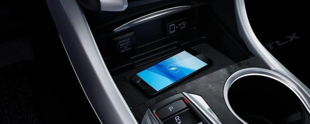 2019 Acura TLX wireless charging iphone