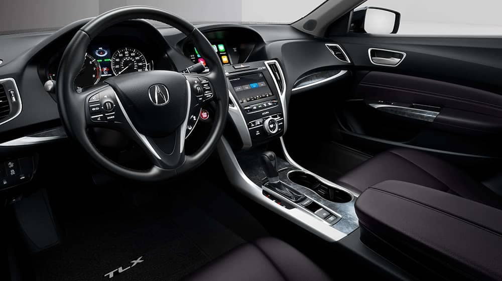 2020 Acura TLX interior front seats in black