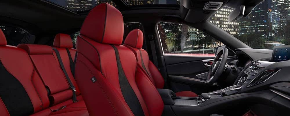 2020 Acura RDX A-Spec Package interior red leather