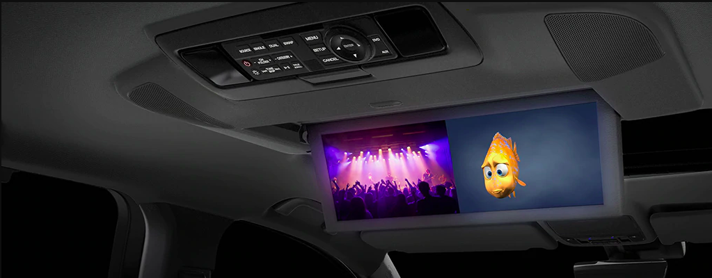 Acura MDX Entertainment Package Interior showing Finding Nemo and Concert