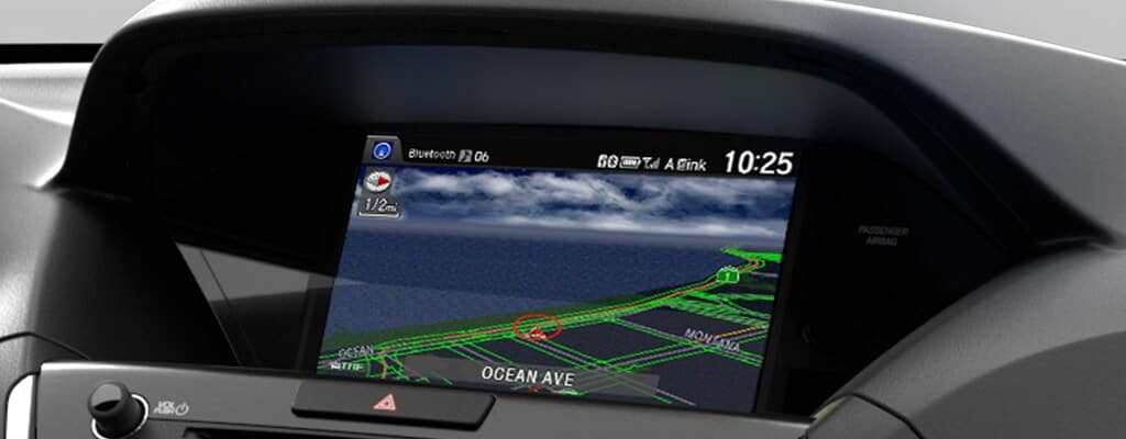 Close on navigation system of MDX technology package
