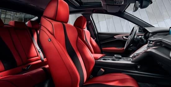 2021 Acura TLX red interior