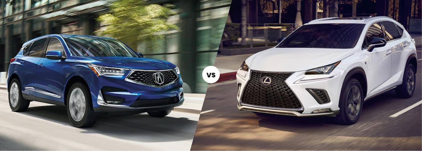 2021 acura rdx vs. 2021 lexus nx | luxury suv comparison