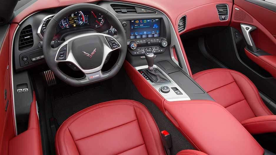 Interior Features of the New Chevrolet Corvette at Garber in Orange-Park, FL