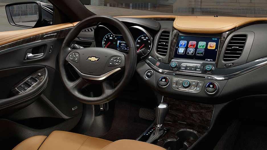 Interior Features of the New Chevrolet Impala at Garber in Orange-Park, FL