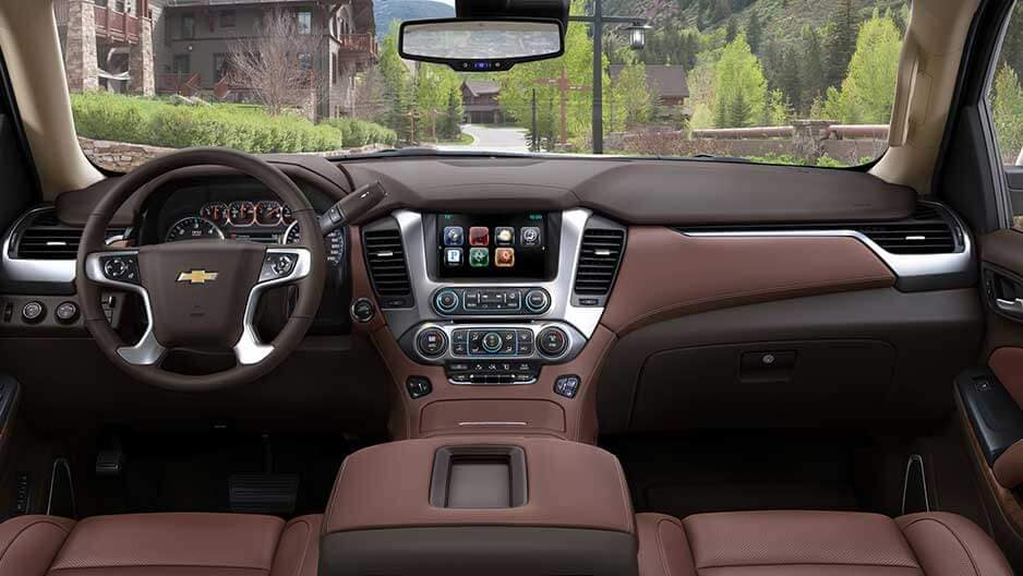 Interior Features of the New Chevrolet Suburban at Garber in Orange-Park, FL