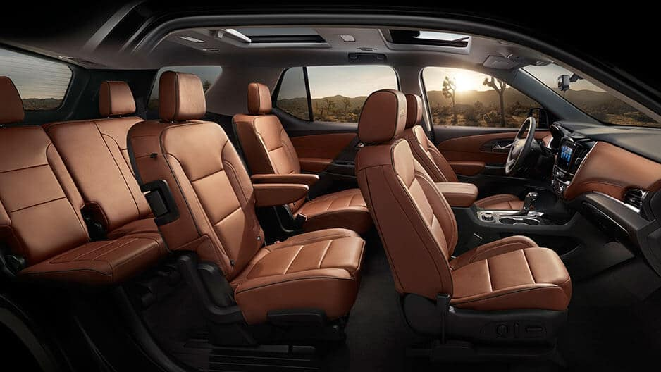 Interior Features of the New Chevrolet Traverse at Garber in Orange-Park, FL