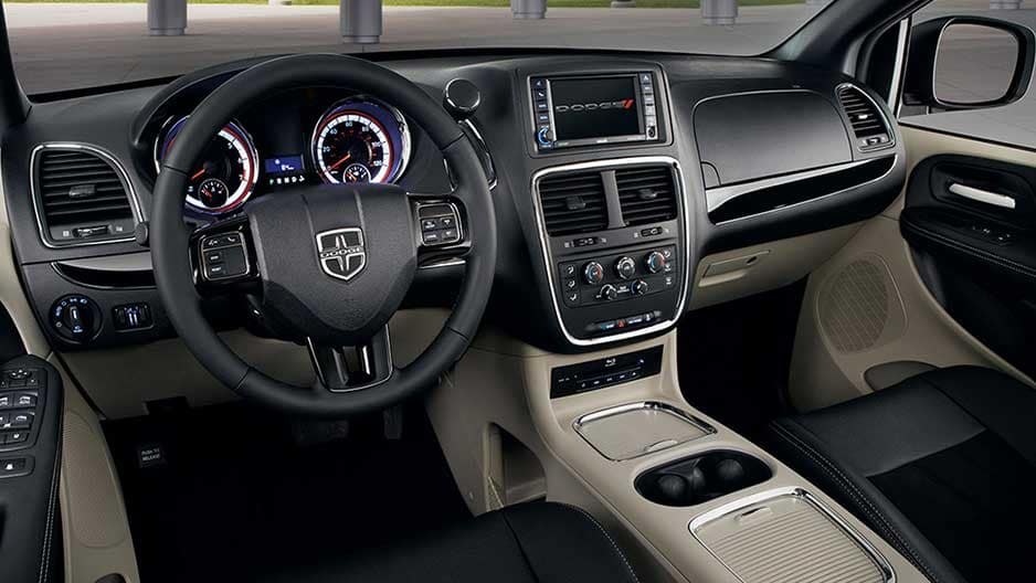 Interior Features of the New Dodge Grand Caravan at Garber in Orange-Park, FL