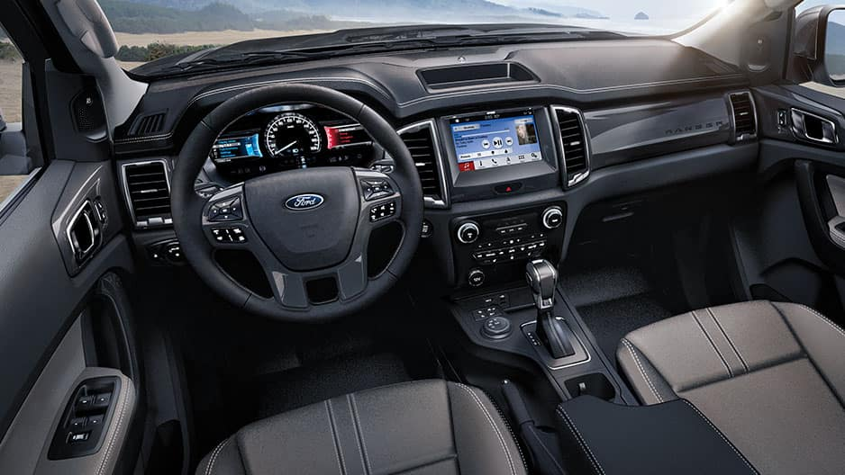 Interior Features of the New Ford Ranger at Garber in Orange Park, FL